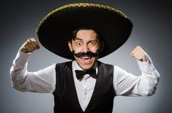 Hombre mexicano en divertido Imagenes de archivo