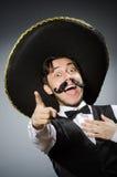 Hombre mexicano en divertido Foto de archivo libre de regalías