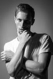 Hombre modelo de Tests For Handsome Foto de archivo libre de regalías