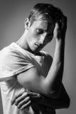 Hombre modelo de Tests For Handsome Imagen de archivo libre de regalías