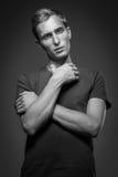 Hombre modelo de Tests For Handsome Fotos de archivo libres de regalías