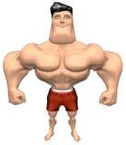 Hombre muscular Foto de archivo libre de regalías