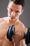 Hombre muscular apto Imagen de archivo libre de regalías