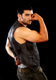 Hombre muscular de la manera Fotografía de archivo libre de regalías