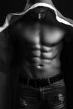 Hombre muscular del Año Nuevo Foto de archivo