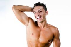 Hombre muscular feliz Fotografía de archivo libre de regalías