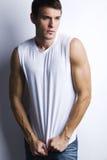 Hombre muscular hermoso Fotos de archivo libres de regalías