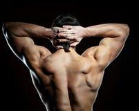 Hombre muscular joven Imagen de archivo libre de regalías