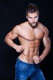 Hombre muscular joven Foto de archivo libre de regalías