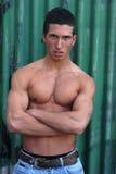 Hombre muscular joven Fotografía de archivo libre de regalías