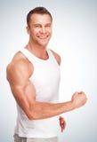 Hombre muscular joven hermoso de los deportes Imagen de archivo