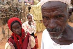 Hombre musulmán en el campo de Darfur Foto de archivo libre de regalías