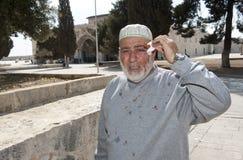 Hombre musulmán herido Imagenes de archivo