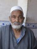 Hombre musulmán indio del retrato en Srinagar, Cachemira, la India Fotos de archivo libres de regalías