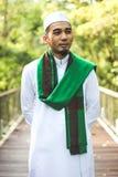Hombre musulmán sonriente Fotos de archivo
