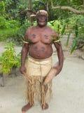 Hombre nativo en Vanuatu fotografía de archivo libre de regalías