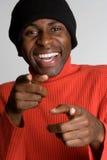 Hombre negro de risa imagen de archivo libre de regalías