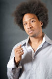 Hombre negro del afroamericano fresco Fotografía de archivo