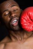 Hombre negro del boxeador Imagen de archivo libre de regalías