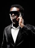 Hombre negro del escolta Imagen de archivo