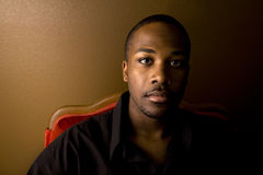 Hombre negro hermoso foto de archivo libre de regalías