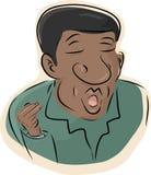 Hombre negro que canta Fotos de archivo libres de regalías