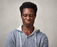Hombre negro triste Fotografía de archivo