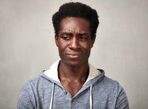 Hombre negro triste Fotografía de archivo libre de regalías