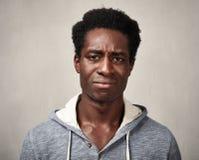 Hombre negro triste Fotos de archivo libres de regalías