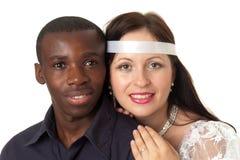 Hombre negro y mujer blanca Imagen de archivo
