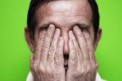 Hombre nervioso Fotos de archivo