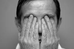 Hombre nervioso Imagenes de archivo