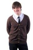 Hombre ocasional adulto joven con los ojos cerrados. Imagenes de archivo