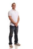 Hombre ocasional en blanco Fotografía de archivo