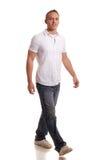 Hombre ocasional en blanco Fotos de archivo
