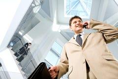 Hombre ocupado Imagen de archivo libre de regalías
