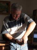 Hombre ocupado Imagenes de archivo