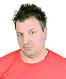 Hombre ofendido infeliz Fotos de archivo libres de regalías