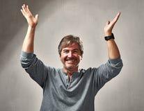 Hombre optimista feliz imagen de archivo