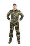 Hombre orgulloso en traje de los militares. Fotos de archivo libres de regalías