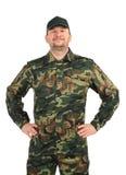 Hombre orgulloso en traje de los militares. Imágenes de archivo libres de regalías