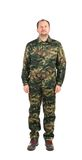 Hombre orgulloso en traje de los militares Fotografía de archivo