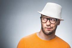 Hombre pensativo Foto de archivo libre de regalías