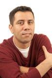 Hombre pensativo contento Foto de archivo libre de regalías