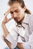 Hombre pensativo hermoso Fotografía de archivo libre de regalías