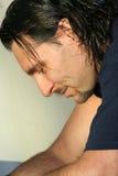 Hombre pensativo/hombres italianos Fotos de archivo