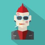 Hombre plano moderno del punk rock del diseño libre illustration