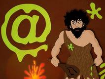 Hombre prehistórico Imagen de archivo libre de regalías