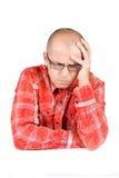 Hombre preocupado Foto de archivo libre de regalías