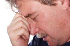 Hombre preocupado Imagen de archivo libre de regalías